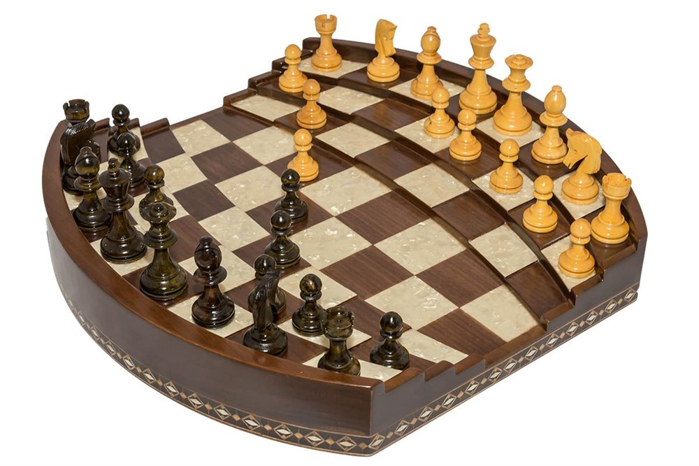 ARENA  3D CHESS BOARD WALNUT BIG SIZE